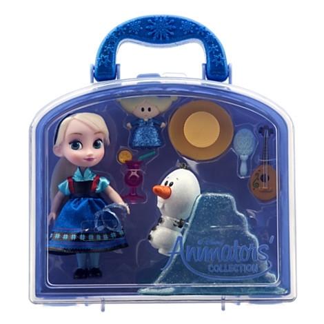 Игровой набор мини кукла Эльза, с аксессуарами. Коллекция Аниматорс Дисней. Холодное сердце. Disney Store, США.