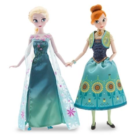 Принцессы Анна и Эльза, подарочный набор. Холодное торжество. Frozen Fever. Disney Store, США.