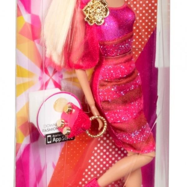 Кукла Барби Модница в малиновом платье. Mattel, США.