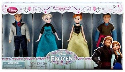 Набор из 4х мини кукол Холодное сердце-Frozen. Disney Store, США.