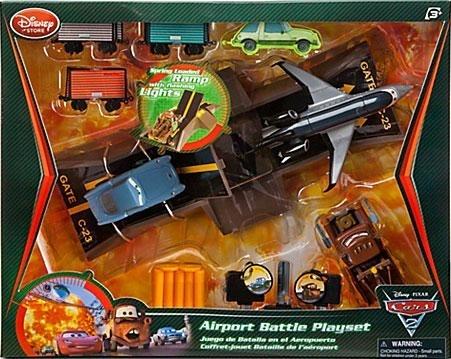 Набор машинок Битва в аэропорту, Тачки 2, Дисней. Disney Store, США. Коробка