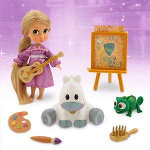 Игровой набор мини кукла Рапунцель с аксессуарами. Коллекция Аниматорс Дисней, Disney Store,США.
